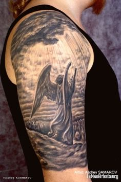 angel tattoo by Fran Land