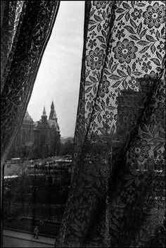 View of Red Square from a Hotel Metropole window, Moscow, 1961.  by Burt Glinn