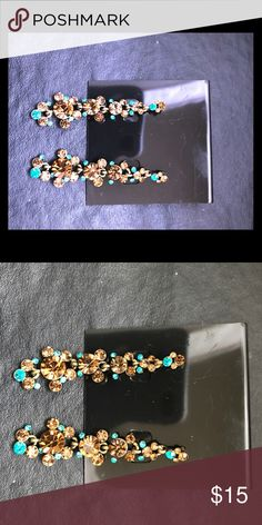 5c881982d A MATCHING RING AND EARRING SET This is definitely a great find. This is  something you would find in ya mama's jewelry box!! It's tha…