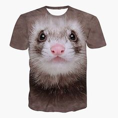 3D-Print-Pattern-Fashion-Soft-Polyester-Thin-Men-039-s-Funny-Casual-T-Shirt