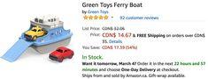 Amazon Canada Deals: Save 54% on Green Toys Ferry Boat & 55% on Disney Moana of Oceania Adventure Doll https://www.lavahotdeals.com/ca/cheap/amazon-canada-deals-save-54-green-toys-ferry/312931?utm_source=pinterest&utm_medium=rss&utm_campaign=at_lavahotdeals&utm_term=hottest_12