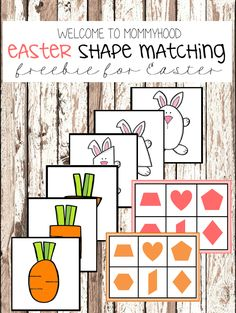 Easter shape matching printables by Welcome to Mommyhood #toddleractivities, #preschoolactivities, #easteractivities