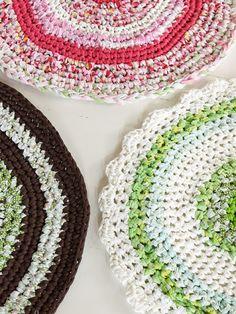 Instructions for making crochet/rag rugs