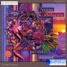Sunset Dreams - page kit :: Page Kits :: Gotta Pixel Digital Scrapbook Store