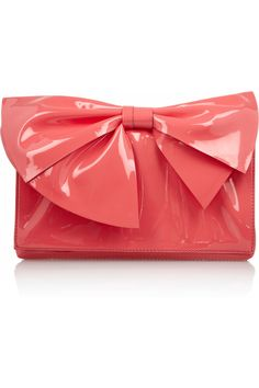 Valentino | Patent-leather bow clutch | NET-A-PORTER.COM....I WANT