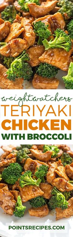 Teriyaki Chicken with Broccoli (Weight Watchers SmartPoints) (Chicken Broccoli Clean) Ww Recipes, Light Recipes, Asian Recipes, Chicken Recipes, Cooking Recipes, Healthy Recipes, Recipies, Weight Watcher Dinners, Weight Watchers Chicken