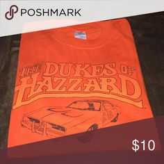 Dukes of Hazzard t-shirt Orange t-shirt with front logo and plain back Jerzees Shirts Tees - Short Sleeve