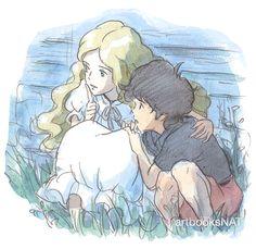 When Marnie was There (思い出のマーニー) Concept art and sketches from the Studio Ghibli film Hayao Miyazaki, Erinnerungen An Marnie, Dreamworks, Fulmetal Alchemist, Secret World Of Arrietty, Japanese Animated Movies, Studio Ghibli Movies, Film D'animation, My Neighbor Totoro