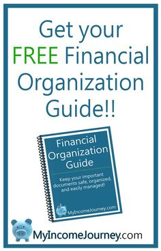 Get your FREE financial organization guide printable! Get your finances in order, start your income journey, and get organized!!