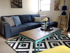 IKEA LAPPLJUNG RUTA Rug- i love this rug with a white couch and the pillows and accessories the color under the table!!