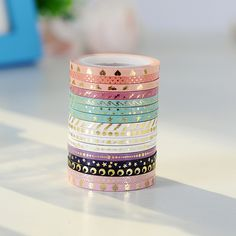 AAGU New Arrival 16 pieces 3mm*5m Skinny Foil Gold Slim Washi Tape Cute Design Stationery Adhesive Tape Washi Masking Tape -in Office Adhesive Tape from Office & School Supplies on Aliexpress.com | Alibaba Group