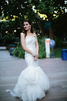 "Vera Wang's ""Fiona"" ~ from this modern Miami wedding: http://stylemepretty.com/2012/04/02/miami-beach-wedding-by-kallima-photography / Photography by kallimaphotography.com"