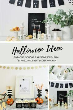 """""""Süßes, sonst gibt's Saures?!"""" heisst es jedes Jahr am 31. Oktober zu Halloween. Egal ob Kürbis Deko, Halloween Dekoration, Süßigkeiten-Verpackungen, Sweettable, bis hin zum gedeckten Tisch für eine schaurig-schöne Halloween-Dinnerparty: Auf dem Kreativblog Partystories.de findest Du viele kreative, einfache und besondere Halloween Ideen zum selber machen, praktische Halloween Deko Hacks und Inspirationen...egal ob für Kinder, kleine Geister, oder große Hexen! :) // #Halloween…"""