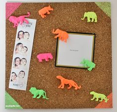 Spray-paint plastic animals for a zoo's worth of pushpins. | 22 DIY Ways To Make Your Whole Life Neon