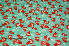 Camelot Fabrics,Folklore, Vögel, rot/türkis von YouLivery essentials auf DaWanda.com