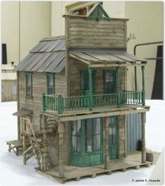 Fairy Houses, Play Houses, Forte Apache, Old Western Towns, Old West Town, Model Train Layouts, Le Far West, Miniature Houses, Model Building