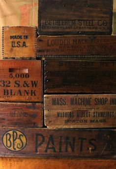 This Ivy House - Vintage Wooden Boxes -