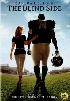 The Blind Side (2009) Oversized African American Michael Oher (Quinton Aaron), the teen from across the tracks and a broken home, has nowhere to sleep at age 16. Taken in by an affluent Memphis couple, Leigh Anne (Sandra Bullock) and Sean (Tim McGraw), Michael embarks on a remarkable rise to play for the NFL. Bullock's performance garnered a Best Actress Oscar and Best Actress Golden Globe Award. Kathy Bates co-stars.