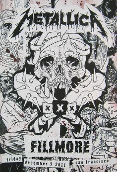 Metallica.com | Products | 30 Years Fillmore Concert Poster - Dec. 9, 2011