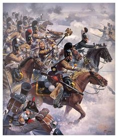 The Russian Dragons of St. Petersburg (Russian) took the eagle from the French Line Infantry at the Battle of Eylau, Military Art, Military History, Military Drawings, Historical Art, Napoleonic Wars, Kaiser, Warfare, Martial, Art History