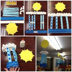 Water Cycle Craft - no instructions, but pretty easy to figure out what to do and mostly straight-cutting except for the sun which is pretty easy to make or find elsewhere. These would be fun to make for the WOW journey.