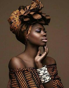 Ankara Style Headwrap..Browns ..Nice