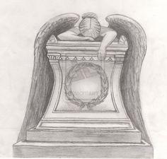 Pencil Drawings of Fallen Angels | Angel of Grief' - Pencil - (March 2010) by AiluroArtist on deviantART