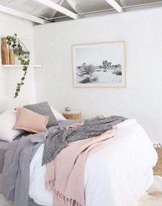 Bedroom Exquisite Purple Ideas Black And Room Rooms Kids Grey Dusty Pink Gallery Of Inspirations Blue Trends Delightful L smallbedroomideasforcouples Pink And Grey Room, Grey And Gold Bedroom, Rose Bedroom, Pastel Bedroom, Pink Bedroom Decor, Small Room Bedroom, Pink Room, Trendy Bedroom, White Bedroom