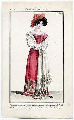 Le Journal des Dames et des Modes 1820 Costume Parisien N°1880