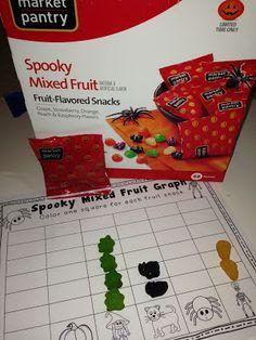Halloween Spooky Fruit Graph using Target fruit snacks FREEBIE