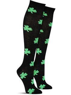 Awesome St. Patrick's Day Shamrock Knee High Socks for Women