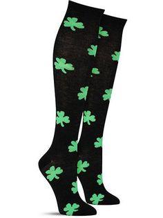Awesome St. Patrick's Day Shamrock Knee High Socks for Women