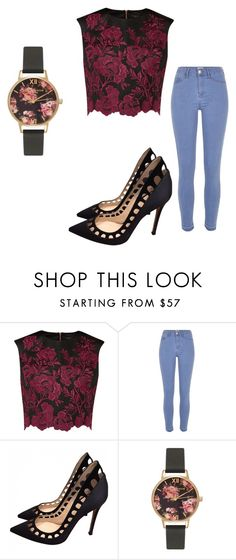 """spring"" by lejla150 ❤ liked on Polyvore featuring Ted Baker, River Island, Gianvito Rossi and Olivia Burton"