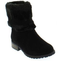 Shoes of Soul Kids Faux Fur Lined Boots, Girl's, Size: 1, Black
