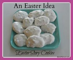 This recipe for Easter cookies includes directions on how each step and ingredient ties to the Easter story. #easter #recipe