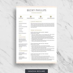 2 Page Resume Examples Adorable Innova Resume  Resume Templates & Career Advice Innovaresume On .