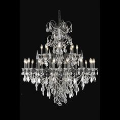 """Athena 44"""" Crystal Foyer Pendant Chandelier with 24 Lights"""