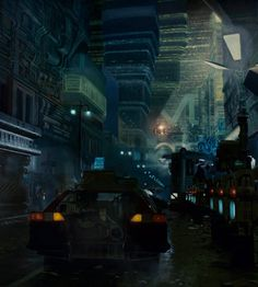 exquisite-art:  motorcycleminister:  Policeman: This sector is closed to ground traffic. What are you doing here? Deckard: I'm working. What are you doing? Policeman: Arresting you, that's what I'm doing.   Blade Runner