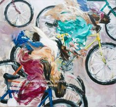 """Artist Stafford Schliefer's painting 'Street Race"""" 