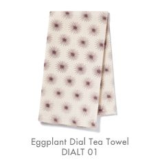 """Pehr Designs/Ridley collection cotton/linen modern dishtowels 18"""" X 24"""".  Eggplant, celedon, persimmon or grey """"Dial""""."""