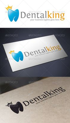 Dental King Logo Template #GraphicRiver - Three color version: color, greyscale and single color. - The logo is 100% resizable. - You can change text and colors very easy using the named and organized layers that includes the file. - The typography used is Fontin you can download here: .fontsquirrel /fonts/Fontin Created: 22August13 GraphicsFilesIncluded: VectorEPS #AIIllustrator Layered: Yes MinimumAdobeCSVersion: CS4 Resolution: Resizable Tags: KingLogo #care #clinic #crown #dental…