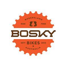 Bosky Bikes #logo #typography #crest