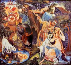 """Сказка """"Сестрица Аленушка и братец Иванушка"""" http://russkaja-skazka.ru/sestrica-alenushka-i-bratec-ivanushka/ Никто ведьму не распознал. Купец вернулся — и тот не распознал. Одному козлёночку все было ведомо. Повесил он голову, не пьет, не ест. Утром и вечером ходит по бережку около воды и зовёт: — Алёнушка, сестрица моя! Выплынь, выплынь на бережок…  #сказки #картинки #СестрицаАлёнушка #БратецИванушка #art #Russia #Россия #добро #дети  #иллюстрации #paint #картины #художник…"""