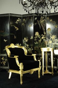 Gold and Black Lacquer love the Screen!