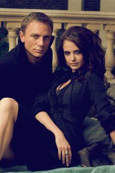 James Bond & Vesper Lynd (Daniel Craig and Eva Green): From the Bond film Casino Royale