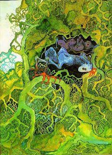 """Album art for Yes album """"Fragile"""" 1972 by Roger Dean"""