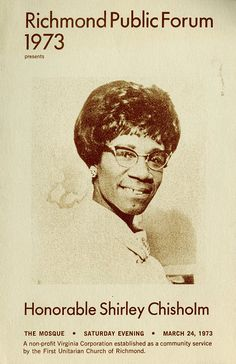 """Before Hillary Clinton and Barack Obama, there was Shirley Chisholm. """"I ran for the Presidency, despite hopeless odds, to demonstrate the sheer will and refusal to accept the status quo…I ran because somebody had to do it first. In this country, everybody is supposed to be able to run for President, but that has never really been true.""""  (The Good Fight) In 1972, Shirley Chisholm became the first major-party African American candidate for President of the United States, and the first woman…"""