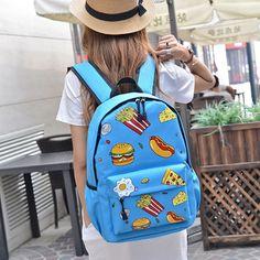 Harajuku canvas schoolbags