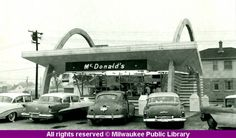 Milwaukee's first McDonald's, Milwaukee Public Library. Restaurant History, Mcdonald's Restaurant, Milwaukee Road, Milwaukee Wisconsin, Eagle River Wisconsin, Harbor Town, Old Trains, The Good Old Days, Mcdonalds