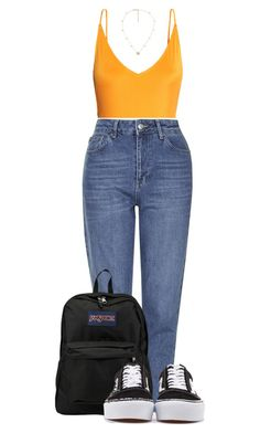 """""""7/20/17"""" by nia-lewis on Polyvore featuring H&M, Topshop, JanSport, Vans and Gucci"""